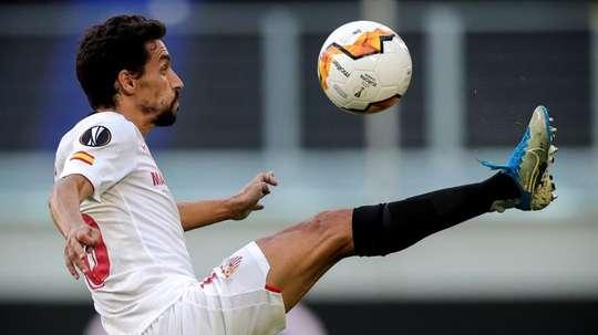 Jesús Navas destacó el partido del Sevilla. EFE