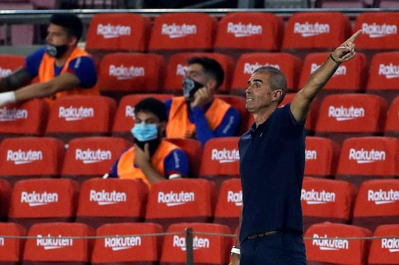 Garitano lamentó la derrota del Athletic. EFE/Alberto Estévez