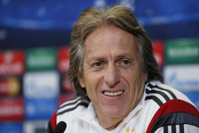 Jorge Jesus no cree que el Benfica tenga nada de azulgrana. EFE