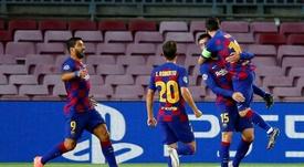 Si on joue bien et qu'on gagne des titres, peut-être que Messi voudra rester. EFE