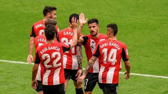 El Athletic y la UD Logroñés se verán las caras en Las Gaunas. EFE/Archivo