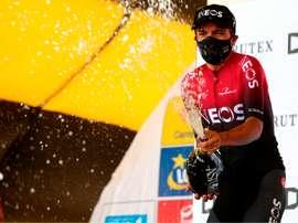 El ciclista ecuatoriano Richard Carapaz, del equipo Ineos. EFE/ANDRZEJ GRYGIEL