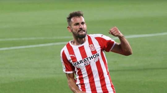 Stuani marcará el camino del Girona en el 'play off'. EFE/David Borrat