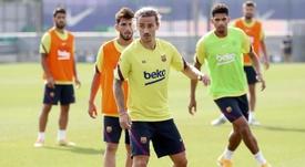 Griezmann a donné une interview à la chaîne du FC Barcelone. EFE