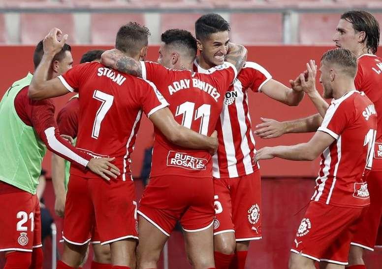 El Girona ganó por la mínima al Almería. EFE