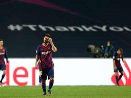 El Barcelona llevaba tiempo arrastrando mal juego en Europa. EFE