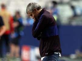 Quique Setién denunciou o Barcelona por incumprimento de contrato. EFE/EPA/Rafael Marchante/Arquivo