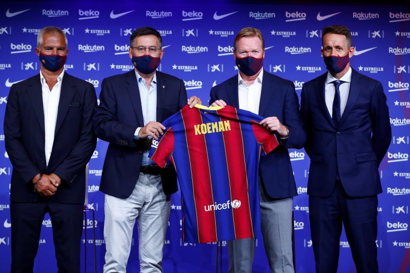 Schreuder et Larsson dans le staff de Koeman — FC Barcelone