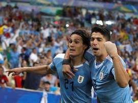 Cavani and Suarez. EFE