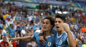 Cavani and Suarez. EFE