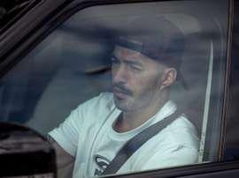 A ida de Suárez ao Atlético está paralisada. EFE/Enric Fontcuberta