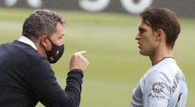 Óscar García analizó el empate ante el Levante. EFE/Lavandeira Jr