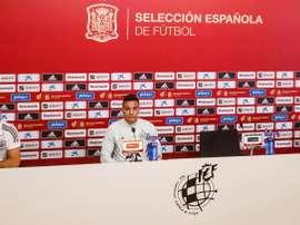 Rodrigo valoró el momento que vive el Valencia. EFE/RFEF