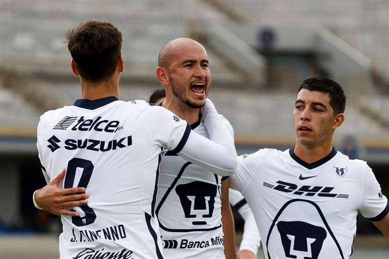 Pumas desbancó a Tigres. EFE