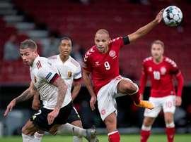 The Danish coach has warned Braithwaite. EFE