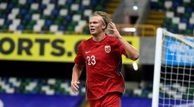 Haaland et Odegaard régalent en Norvège. EFE