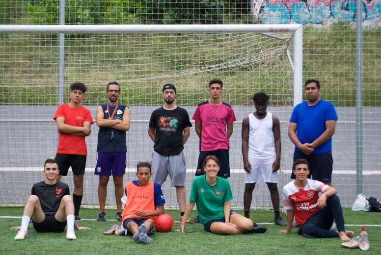 Fútbol solidario. EFE