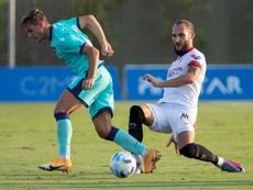 Dani Gómez espera marcar muchos más goles con el Levante. EFE