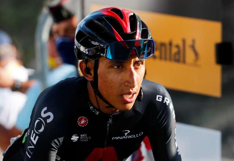 El ciclista colombiano, Egan Bernal. EFE/EPA/Thibault Camus