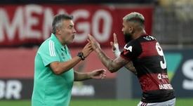 Jogo entre Palmeiras e Flamengo pode ser adiado por casos de Covid-19.  EFE/Antonio Lacerda/Arquivo