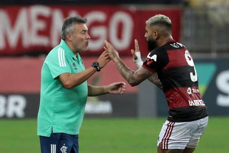 Gabigol volta, Pedro fora: o ataque do Flamengo para as oitavas da Libertadores. EFE