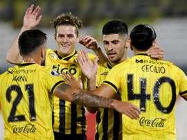 Tigre se diluye con los minutos y Guaraní se aprovecha. EFE/Nathalia Aguilar