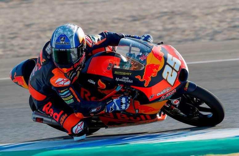 El piloto español de Moto3 Raúl Fernández (Red Bul KTM Ajo). EFE/ Román Ríos/Archivo