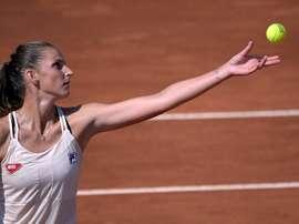 La checa Karolina Pliskova, número 4 del ránking WTA y vigente campeona, avanzó este viernes con paso firme a los cuartos de final del torneo de Roma tras imponerse por 6-3 y 6-4 a la rusa Anna Blinkova, número 65.EFE/EPA/Riccardo Antimiani