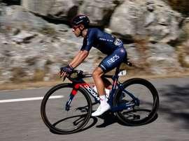 El español Jonathan Castroviejo (Ineos), en una etapa del actual Tour de Francia. EFE/EPA/Sebastien Nogier