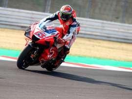 El italiano Francesco Pecco Bagnaia (Ducati Desmosedici GP20). EFE/EPA/PASQUALE BOVE