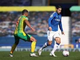 James hizo su primer gol en la Premier. EFE/EPA