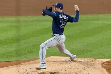 En la imagen, el lanzador los Rays de Tampa Bay, Trevor Richards. EFE/EPA/JUSTIN LANE/Archivo