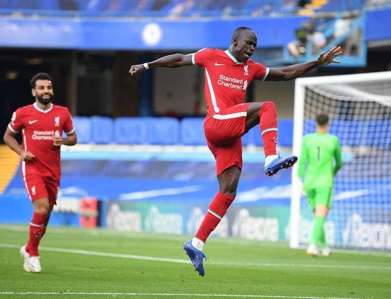 Mané marcou os dois gols do Liverpool na segunda rodada da Premier League. EFE/EPA/Michael Regan