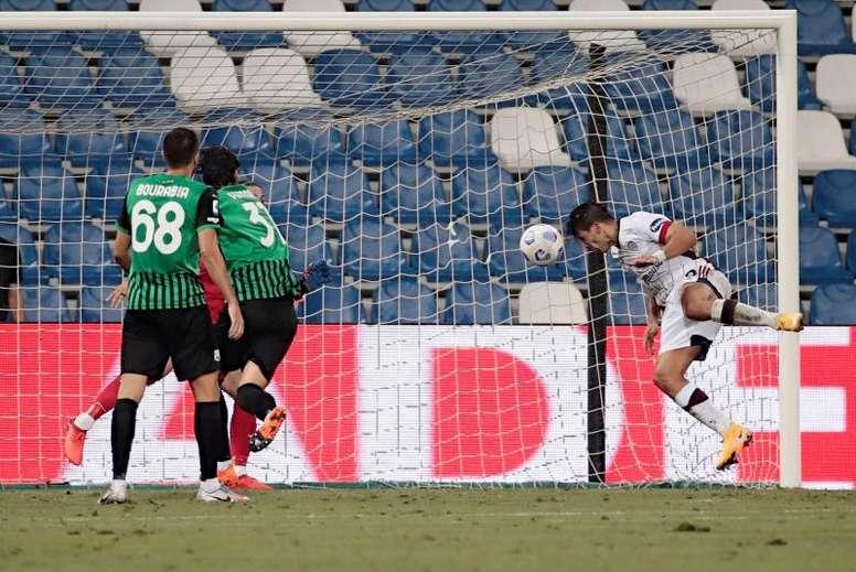 Giovanni Simeone empezó el curso con gol. EFE