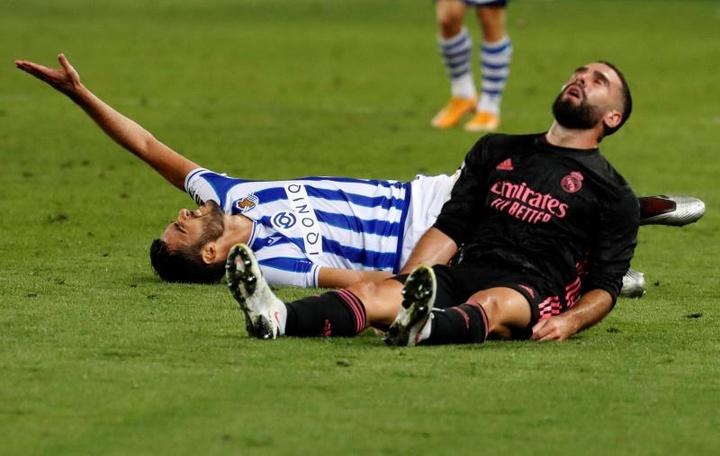 Mikel Merino no se arrepiente de haber jugado la final con dicha lesión. EFE