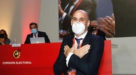 Rubiales prometió luchar por el Mundial 2030 en su reelección. EFE/RFEF