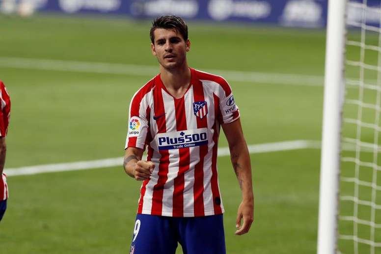 Morata fait ses adieux à l'Atlético. EFE