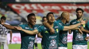 León le arrebata la condición de invicto a Pumas. EFE/Gustavo Becerra