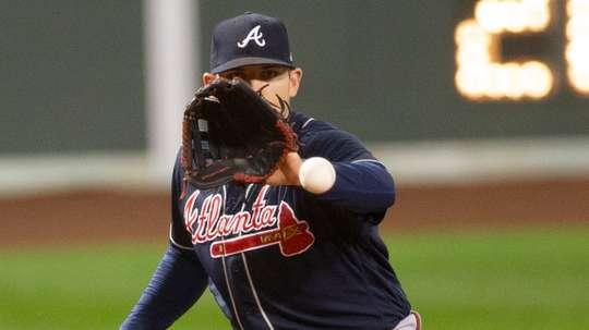 En la imagen, el tercera base Austin Riley de los Bravos de Atlanta. EFE/CJ Gunther/Archivo