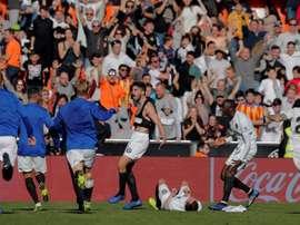 El Valencia reabre Mestalla a la SD Huesca dos años después. EFE
