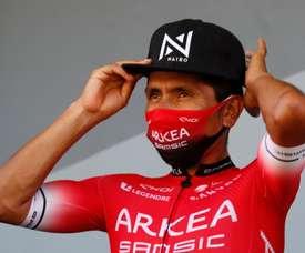 El ciclista colombiano Nairo Quintana, del equipo Arkea Smasic, durante el Tour de Francia. EFE/Sebatien Nogier