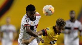 Flamengo derrotou o Barcelona de Guayaquil por 2 a 1. EFE/José Jácome