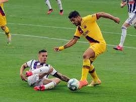 Luis Suarez pourrait être aligné dès ce week-end avec l'Atlético. EFE
