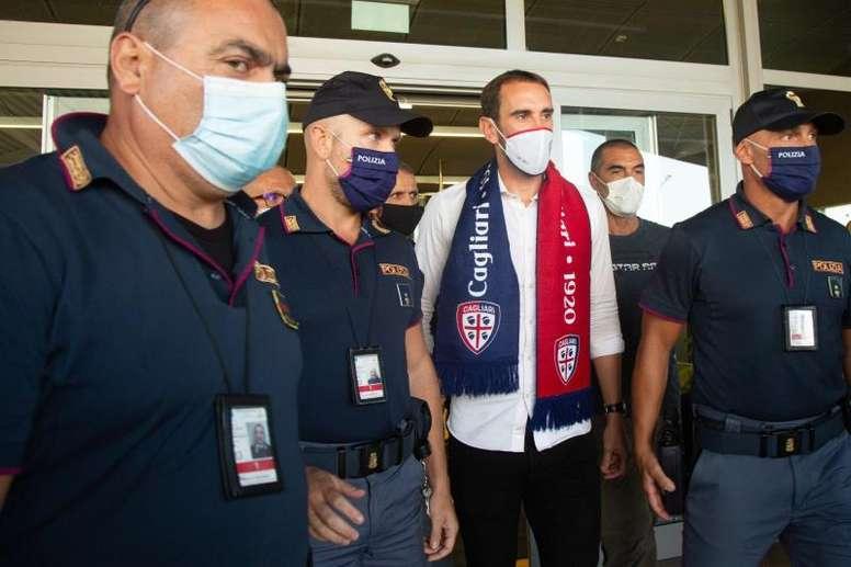 Godín se despidió del Inter. EFE