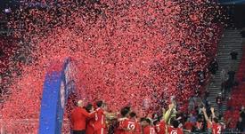 El Bayern superó al Sevilla en la final de la Supercopa de Europa. EFE