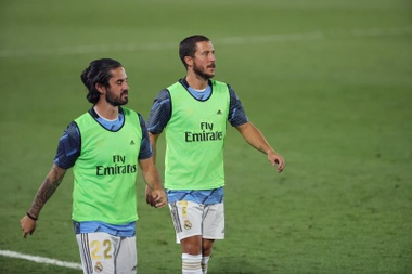Le groupe du Real Madrid face au Betis. afp