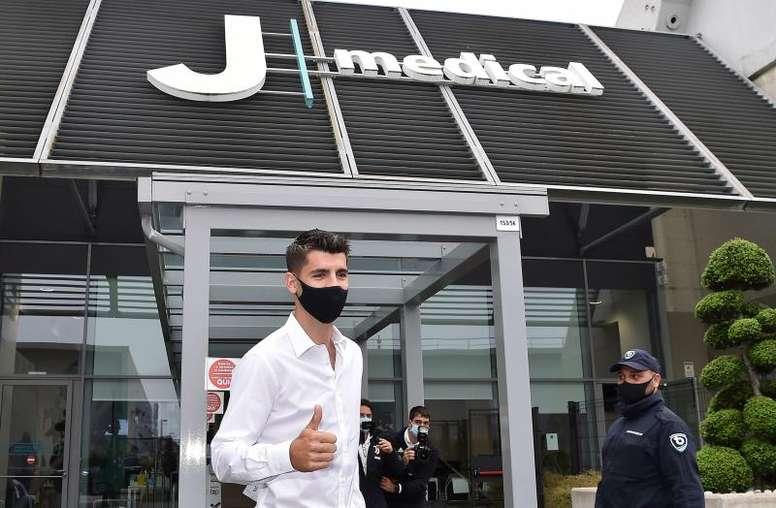 Morata arrives at juve's medical centre. EFE/Alessandro Di Marco