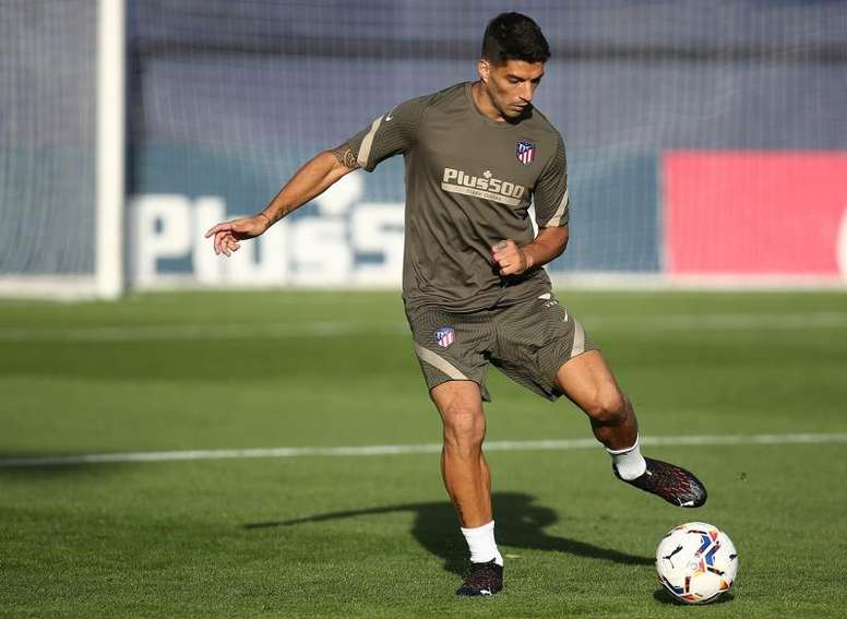 Suárez will play. EFE/atléticodemadrid.com
