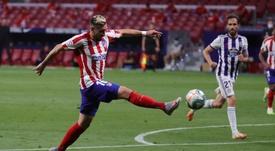 Herrera, uma das possíveis saídas do Atlético de Madrid. EFE/JuanJo Martín