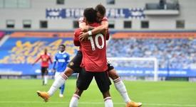 El United ganó con un gol en el minuto 100. EFE